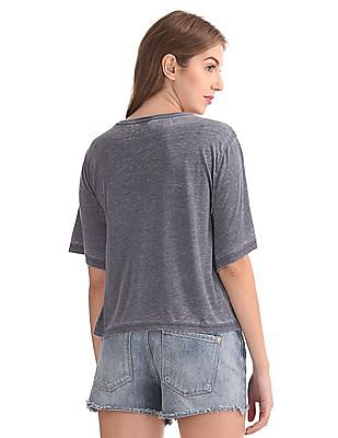 Cherokee Washed Boxy Top