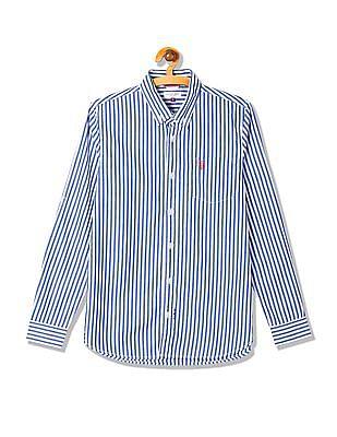 U.S. Polo Assn. Kids Boys Striped Button Down Collar Shirt