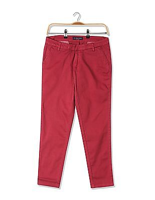 U.S. Polo Assn. Women Comfort Fit Flat Front Trousers