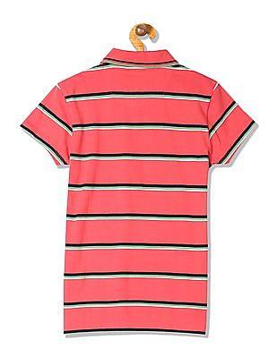 U.S. Polo Assn. Women Regular Fit Cap Sleeve Polo Shirt