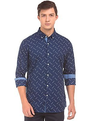 Nautica Button Down Floral Print Shirt