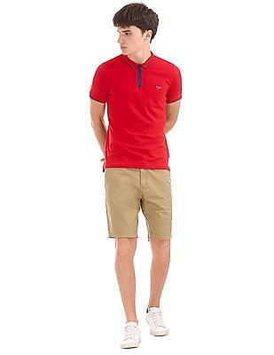 Flying Machine Slim Fit Solid Shorts