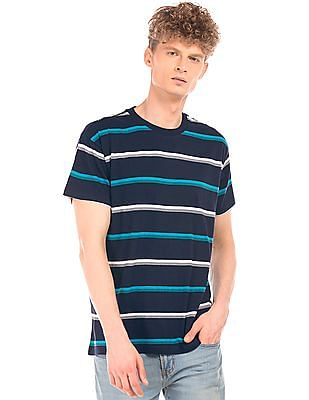 Aeropostale Striped Crew Neck T-Shirt