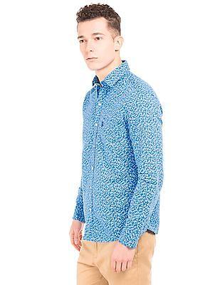 U.S. Polo Assn. Leaf Print Linen Cotton Shirt