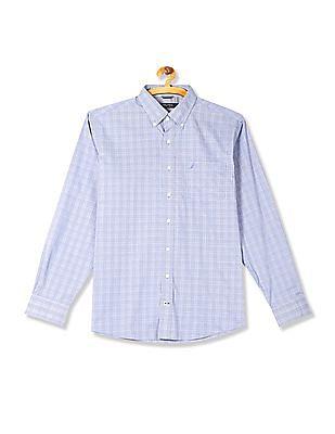 Nautica Long Sleeve Wrinkle Resistant Plaid Shirt