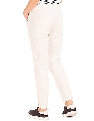 GAP Mid Rise Embroidered Best Girlfriend Jeans