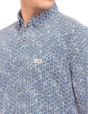 U.S. Polo Assn. Denim Co. Floral Print Button Down Shirt