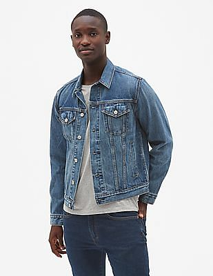 GAP Men Blue Icon Denim Jacket