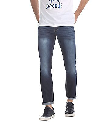 Newport Blue Skinny Fit Faded Jeans