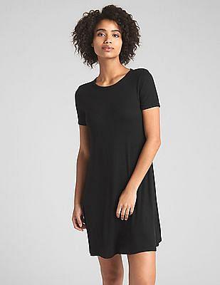GAP Short Sleeve Ribbed T-Shirt Dress