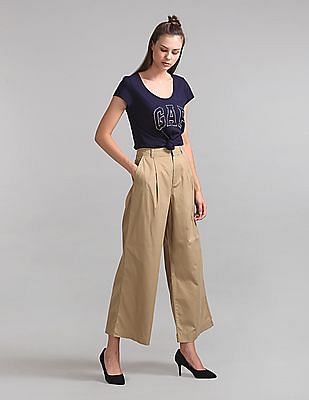GAP High Rise Pleated Wide Leg Pants