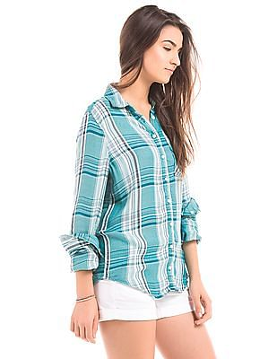 Aeropostale Relaxed Fit Check Shirt
