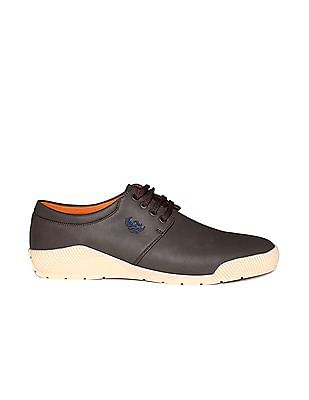 Flying Machine Contrast Sole Textured Sneakers