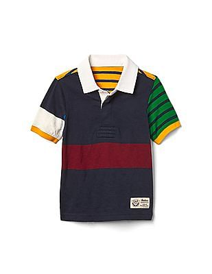 GAP Boys Blue Rugby Slub Polo