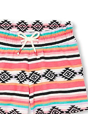 The Children's Place Girls Multi-Colour Matchables Printed Knit Shorts