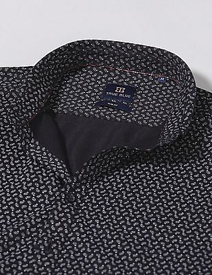 True Blue Slim Fit Paisley Print Shirt