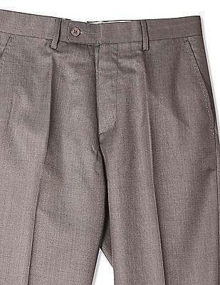 Arrow Regular Fit Woollen Trousers