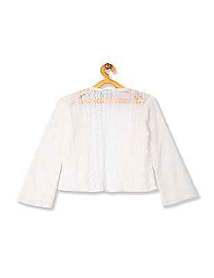 Cherokee Girls Lace Open Front Shrug