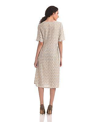 U.S. Polo Assn. Women Printed Modal Linen Dress
