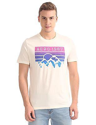 Aeropostale Printed Front Short Sleeve T-Shirt