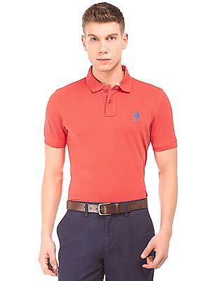 U.S. Polo Assn. Brand Embroidered Pique Polo Shirt