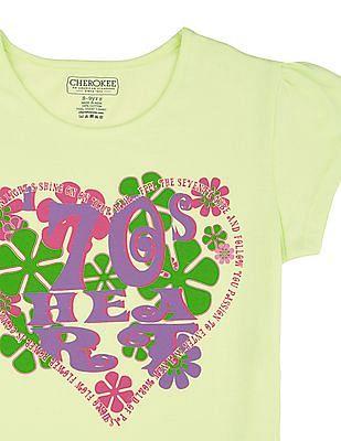 Cherokee Girls Short Sleeve Printed Top