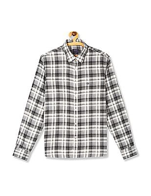 Arrow Sports Grey Slim Fit Check Shirt