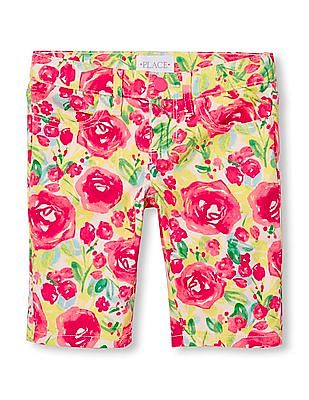 The Children's Place Girls Floral Print Skimmer Shorts