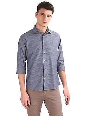 Nautica Long Sleeve Printed Twill Shirt