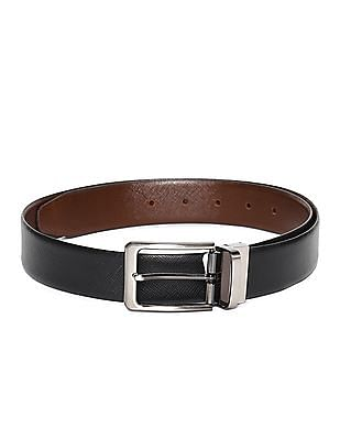 Excalibur Black And Brown Textured Reversible Belt