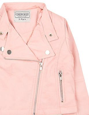 Cherokee Girls Distressed Biker Jacket