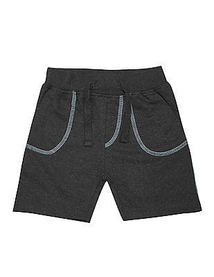 Donuts Boys Contrast Stitch Elasticized Waist Shorts
