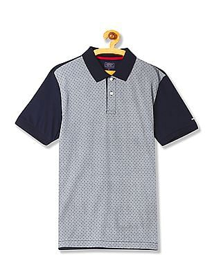 Arrow Sports Regular Fit Printed Front Polo Shirt