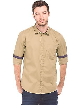 Ruggers Solid Cotton Shirt