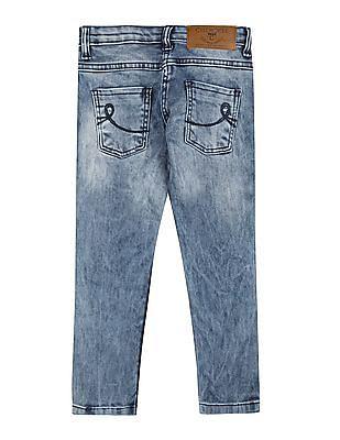 Cherokee Girls Slim Fit Acid Wash Jeans
