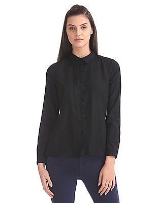 Cherokee Spread Collar Tucked Front Shirt
