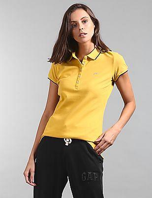 GAP Short Sleeve Solid Polo Shirt