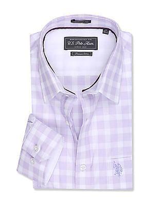 USPA Tailored Tailored Regular Fit Long Sleeve Shirt