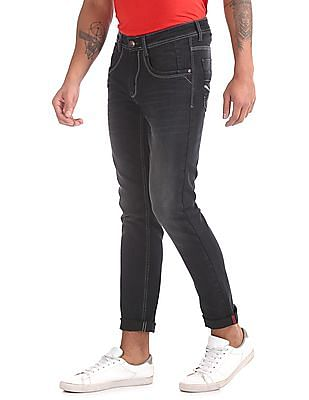 Ruf & Tuf Skinny Fit Whiskered Jeans