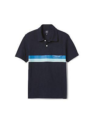 GAP Boys Chest Stripe Polo Shirt