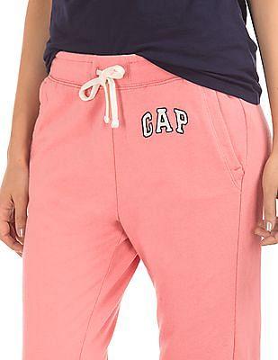 GAP Women Pink French Terry Logo Joggers
