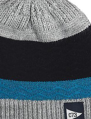 Cherokee Blue Boys Knit Stripe Beanie