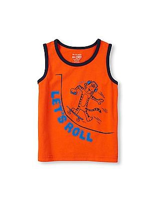 The Children's Place Toddler Boy Matchables Sleeveless Graphic Tank Top