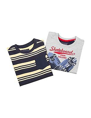 Cherokee Boys Crew Neck T-Shirt - Pack Of 2