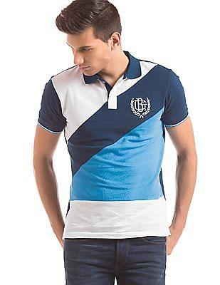 Geoffrey Beene Colour Block Slim Fit Polo Shirt