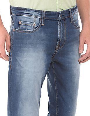 Aeropostale Distressed Slim Straight Fit Jeans