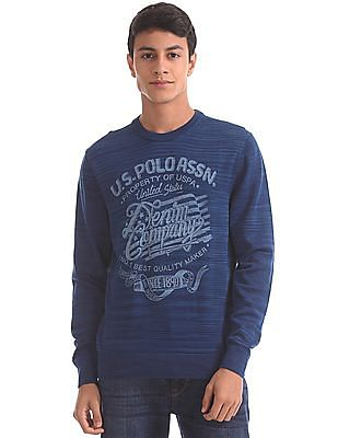 U.S. Polo Assn. Denim Co. Crew Neck Space Dyed Sweater