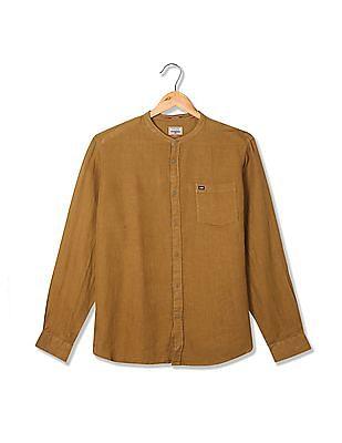 Arrow Sports Slim Fit Linen Shirt