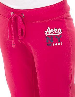 Aeropostale Solid Regular Fit Track Pants
