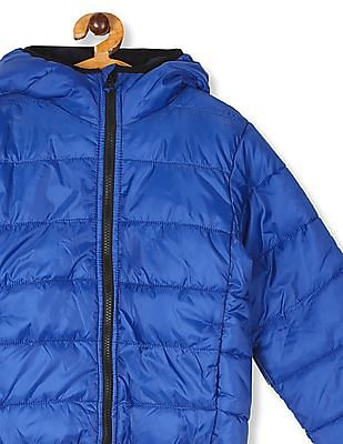 The Children's Place Blue Boys Hooded Puffer Jacket